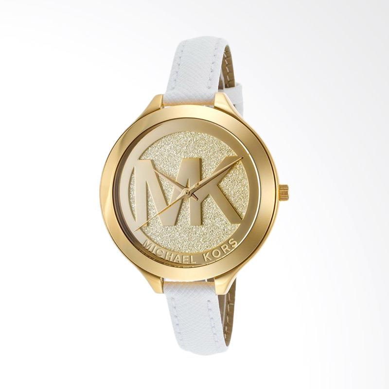 Michael Kors MK2389 Slim Runway Display Quartz Women's Analog Watch - White
