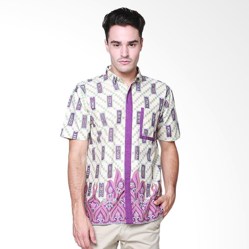 Days by Danarhadi Men Kerton Sinebar List Pocket Details Men Shirt Kemeja Pria - Cream