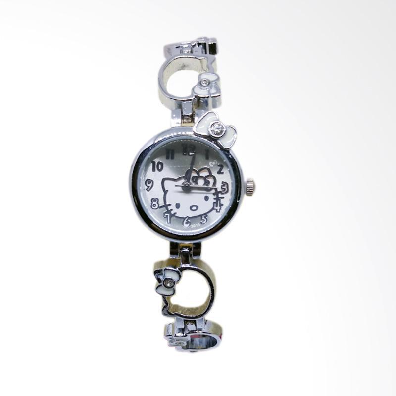 Hello Kitty Rantai Rongga Face HK Stainless Steel Jam Tangan Wanita - Silver