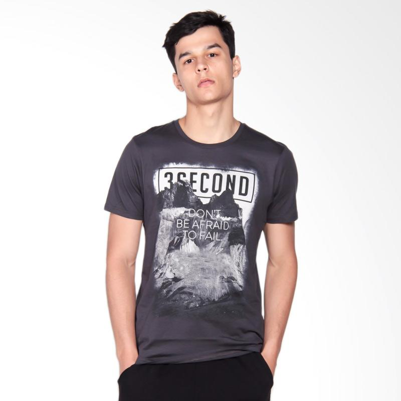 3SECOND 3008 T-Shirt Pria - Grey 129081712