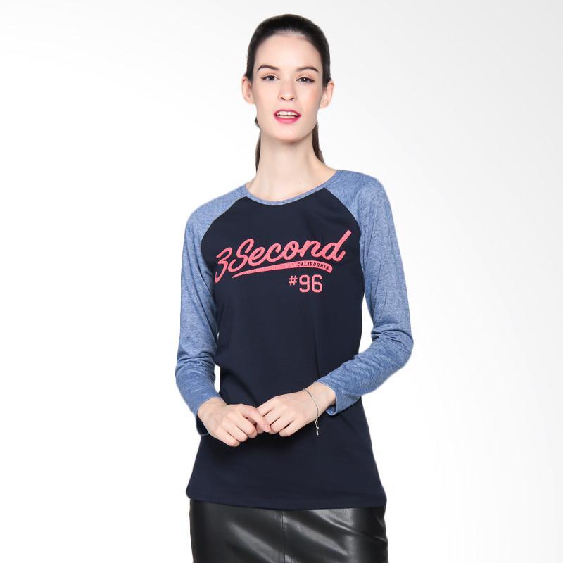 3 Second Ladies 3008 102081722 T-Shirt Atasan Wanita - Blue