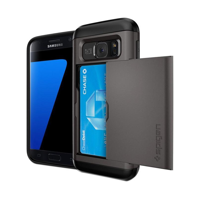 Spigen Slim Armor Casing for Samsung Galaxy S7 2016 - Gunmetal