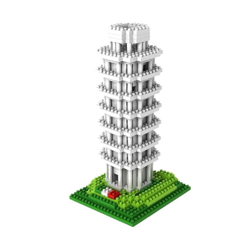 Loz Diamond Block World Famous Architecture Series Leaning Tower Of Pisa Mainan Anak