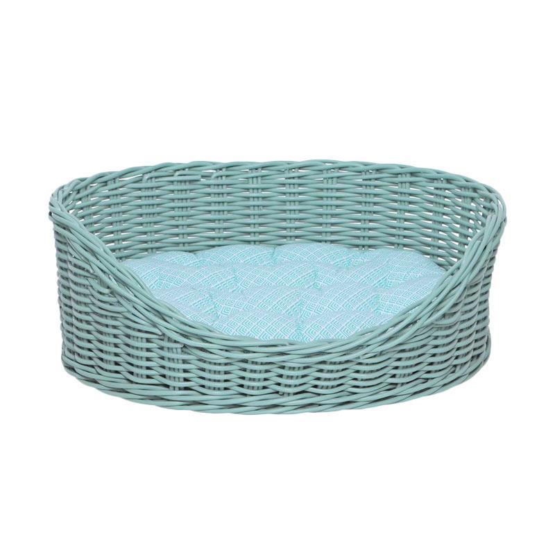harga kandang, tempat tidur anjing/kucing, keranjang, kurungan Mylo Shiberian Pet Bed Tempat Tidur Hewan - Mint [Size S] new Blibli.com