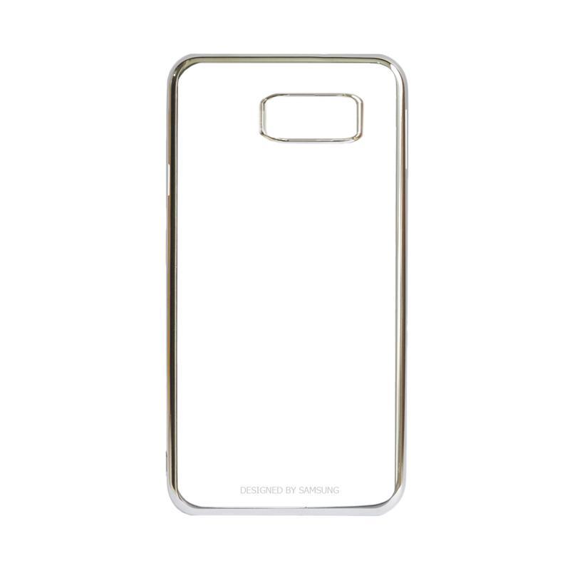 Samsung Shining List Chrome Hardcase Casing for Galaxy S7 Edge - Silver