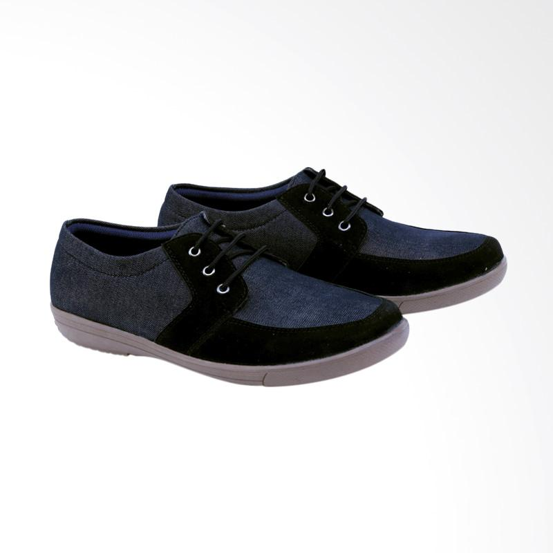 Garsel Sneakers Shoes Pria - Hitam GDW 1021