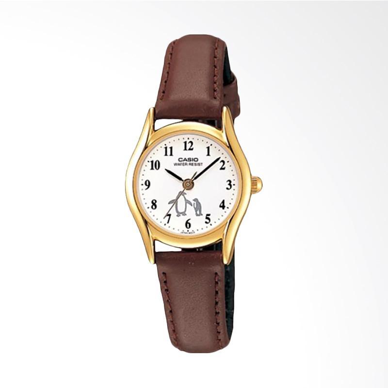 CASIO LTP-1094Q-7B6RDF Enticer Ladies Leather Strap Jam Tangan Wanita - Brown