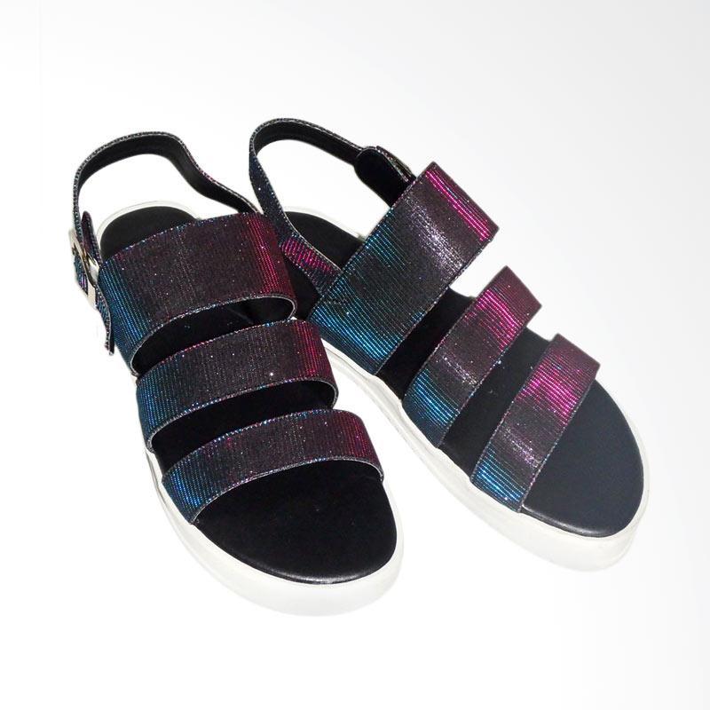 Anneliese sandal flat wanita aurora black