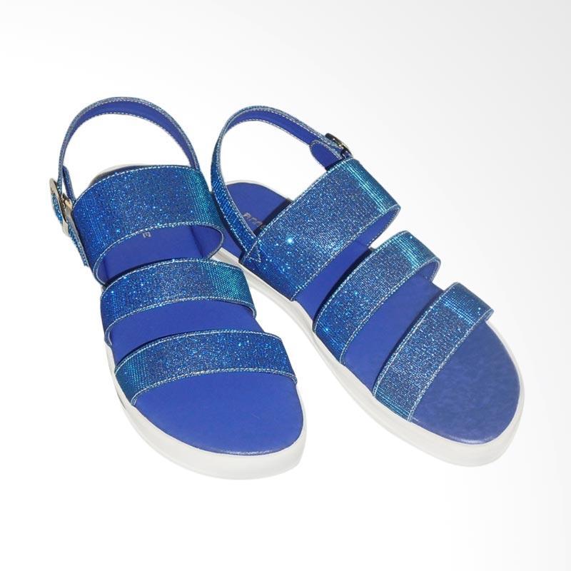 Anneliese Aurora Sandal Flat Wanita - Blue