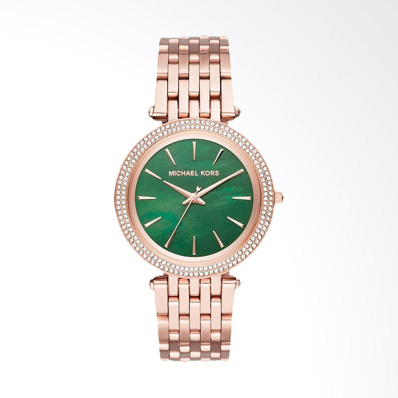 Michael Kors MK3552 Darci Mother of Pearl Dial tone Stainless Steel Jam Tangan Wanita - Green Rose Gold