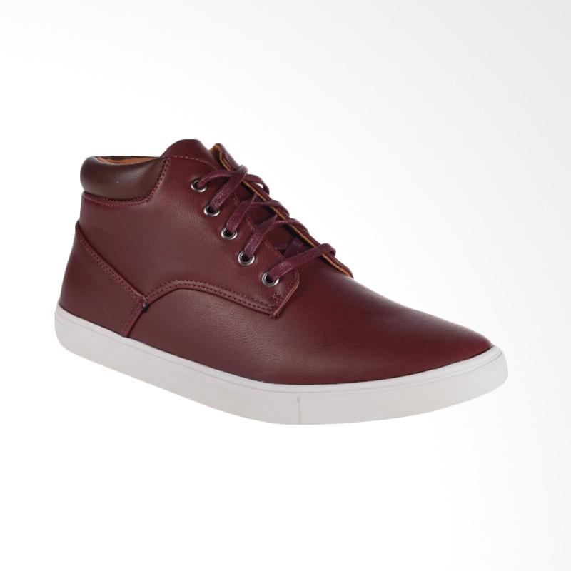 Papercut Men Chelsea Casual Shoes Sepatu Pria Maroon Brown G6164