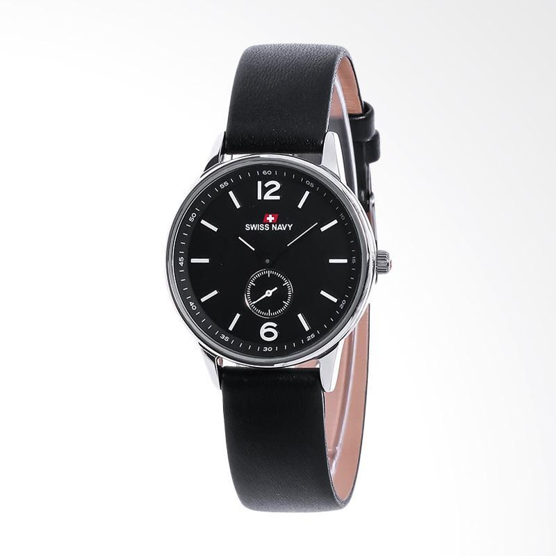 Swiss Navy Black Dial Stainless Steel Case 8305LSSBKBK Jam Tangan Wanita
