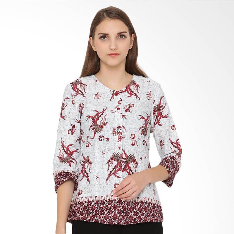 A&D Fashion Ms 720b Blouse Casual Batik  Wanita - Red