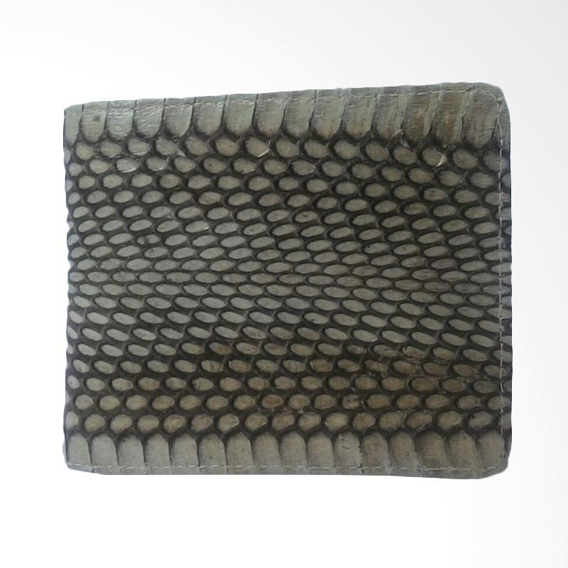 Zamrud Snake Skin Wallet From Indonesian Crafsman Dompet Pria - White Superior