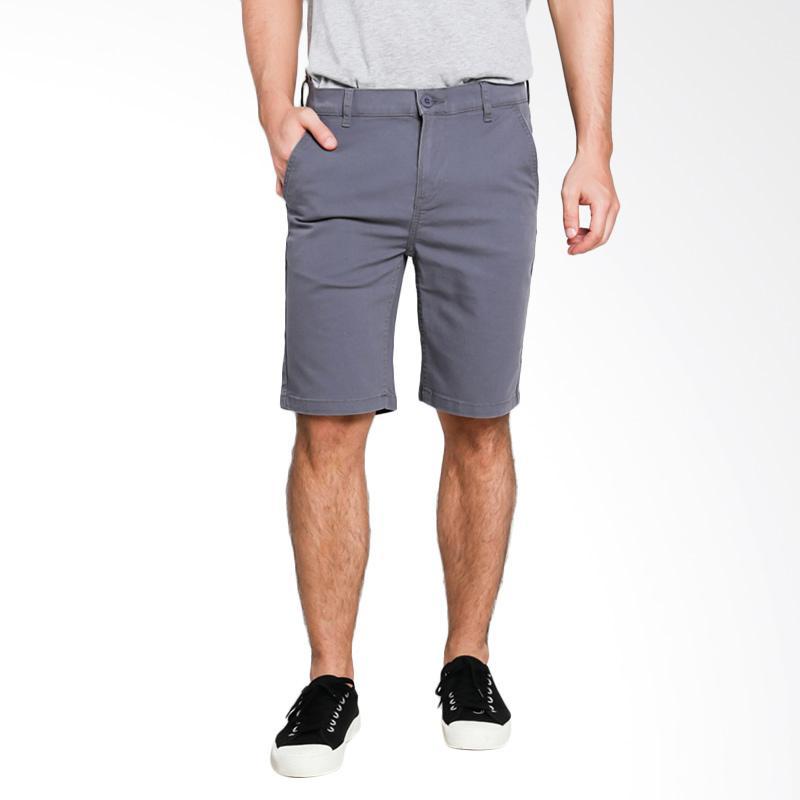 3SECOND Relaxed Pants 0210 Celana Pendek Pria - Grey [102101714AB]