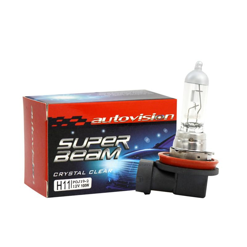 Autovision Superbeam H11 Crystal Clear Bohlam Lampu Mobil [12 V/100 W]