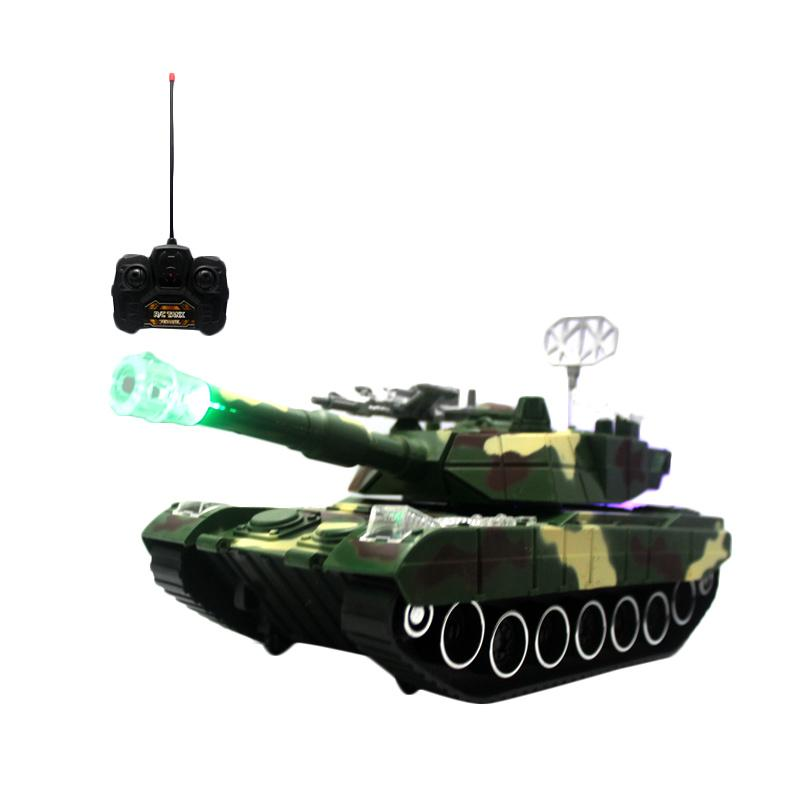 VIGOS RC Tank Green Hunter Special Edition with Remote Control Mainan Anak
