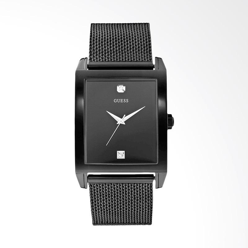 Guess U0298G1 Dressy Diamond Black Dial Black Ion-plated Unisex Watch Jam Tangan - Black
