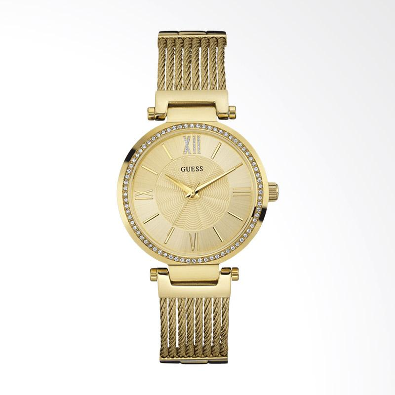 Guess U0638L2 Women Gold Dial Gold-tone Stainless Steel G-Link Jam Tangan Wanita - Gold