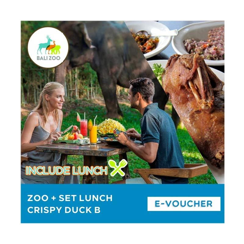 Bali Zoo Park Zoo with Set Lunch Crispy Duck B E-Voucher [Adult]