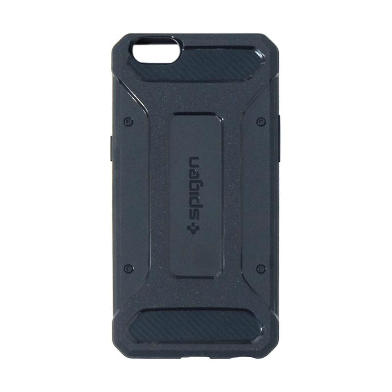 Spigen Rugged Capsule With Carbon Fiber Textures Softcase Casing for Oppo A57 - Dark Blue