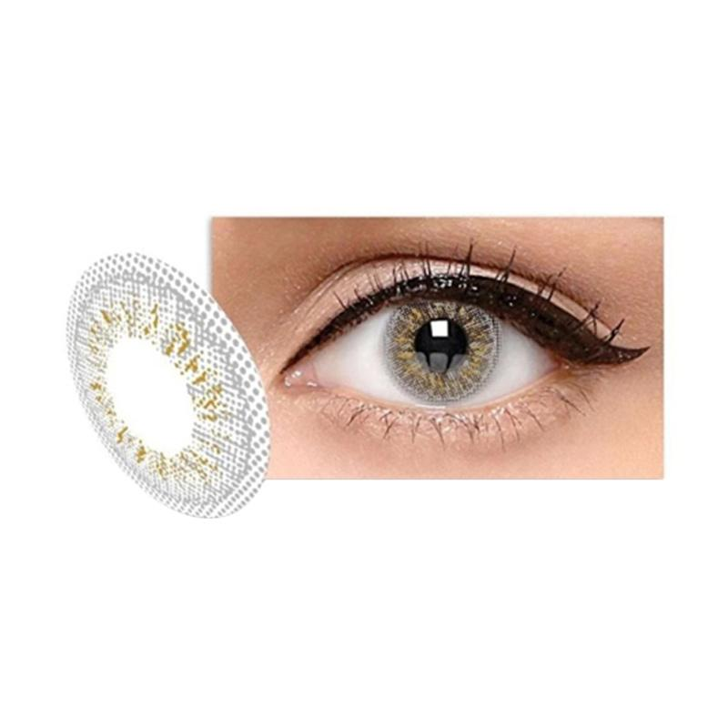 Ice Exoticon X2 Silver Softlens - Light Grey [Plano]