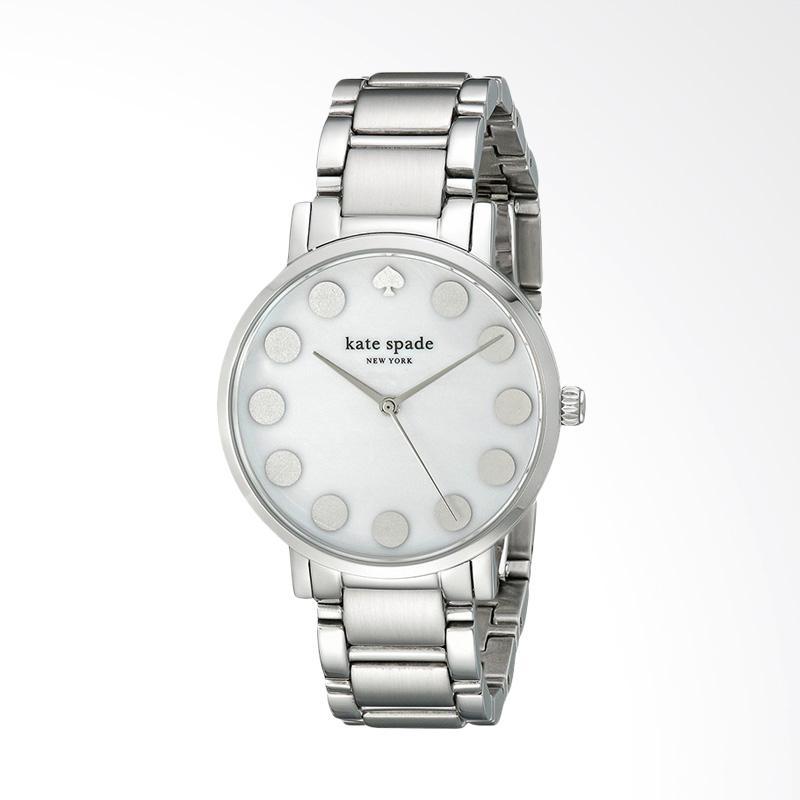 Kate Spade 1YRU0736 Gramercy Stainless Steel Bracelet Watch Jam Tangan Wanita - Silver
