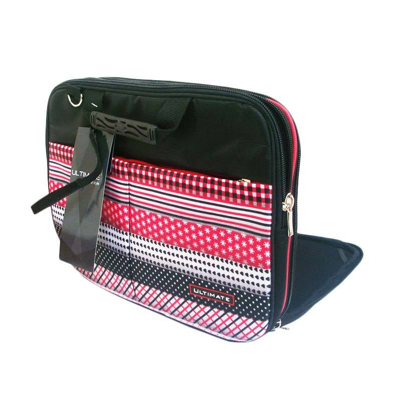 Ultimate Double Retro Tas Laptop 12 Inch - Pink