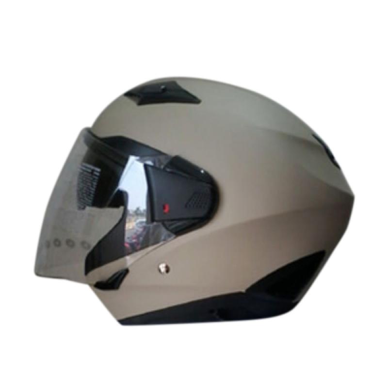 harga Zeus ZS-611 Solid Helm Half Face - Flat Yellow Cream Blibli.com