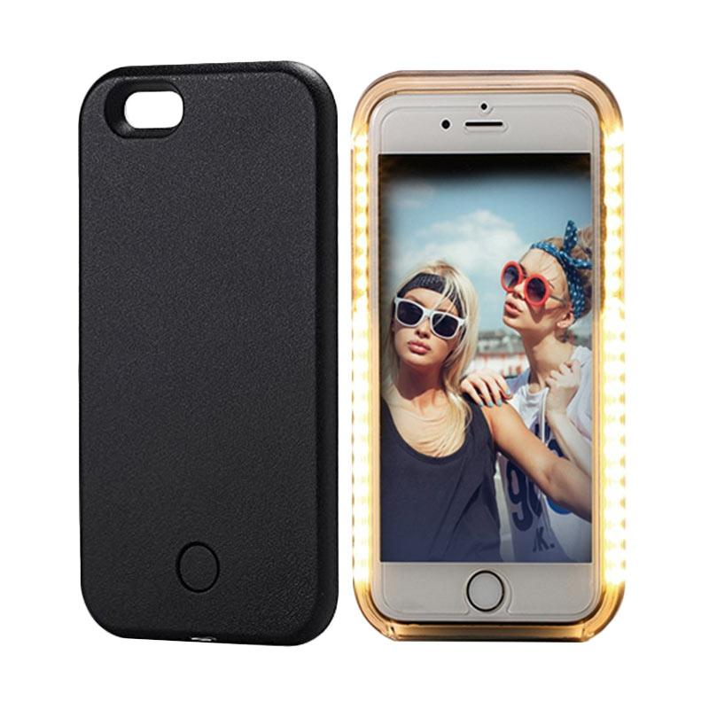 28fashion Selfie and Emergency Signal Lamp LED Light Casing for iPhone 6 - Black