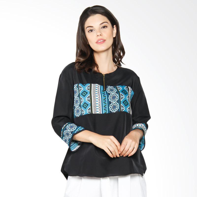 Jening Batik WMS JBW005 Blouse - Black [All Size]