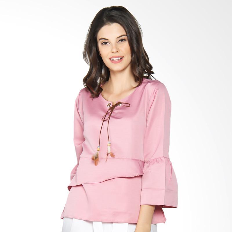 Jening Batik WMS JBW018 Blouse Atasan Wanita - Pink