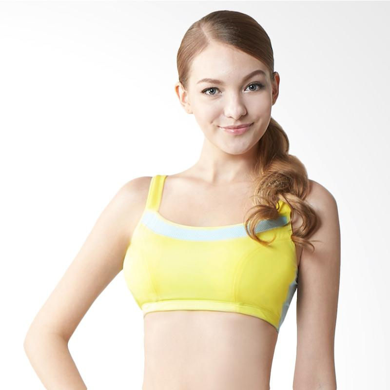 Clany HiCool Breathable Sports Bra - Yellow