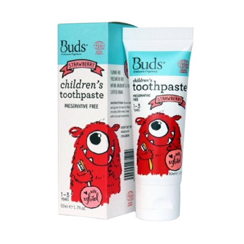 Buds Children's Toothpaste 50ml Strawberry [1 - 3 Year]