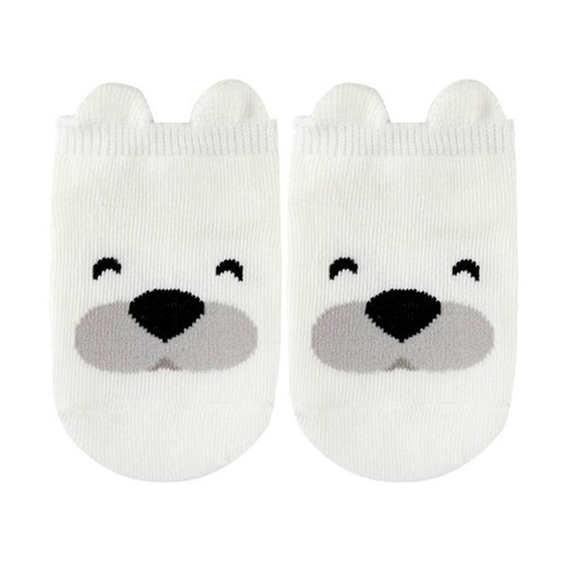 Chloebaby Shop 3D Gambar Animal Panda Putih Kaos Kaki Anti Slip Bayi