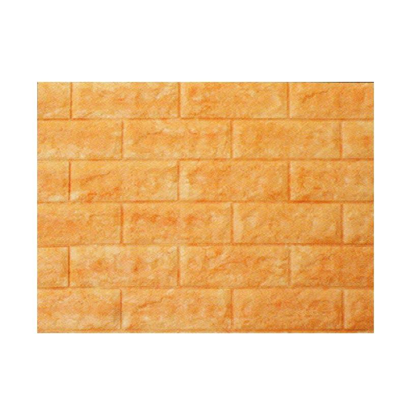 Hyundae Fixpix AB 23 Roll Fix Brick 3D Soft Foam Embossed Wallcover Dekorasi Dinding - Yellow