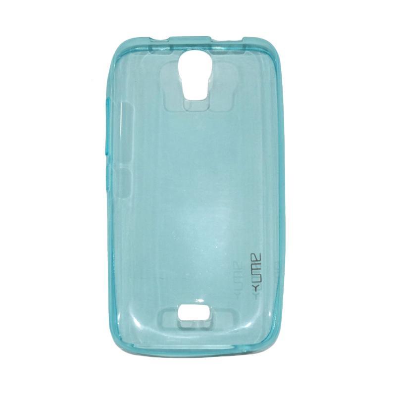 Ume Ultrathin Silicone Jelly Softcase Casing for Huawei Y3C/Y360/Y336/Y3 Batik - Biru