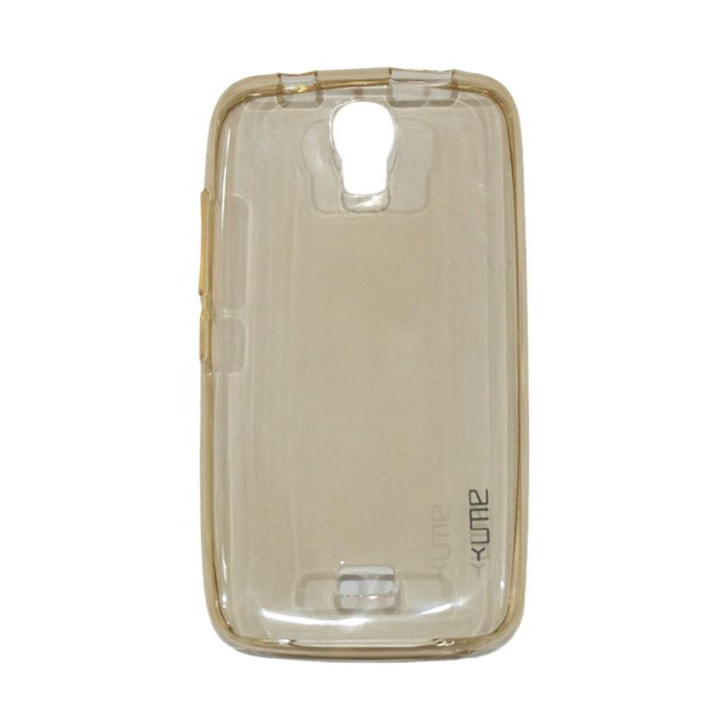 Ume Ultrathin Silicone Jelly Softcase Casing for Huawei Y3C / Y360 / Y336 / Y3 Batik - Kuning
