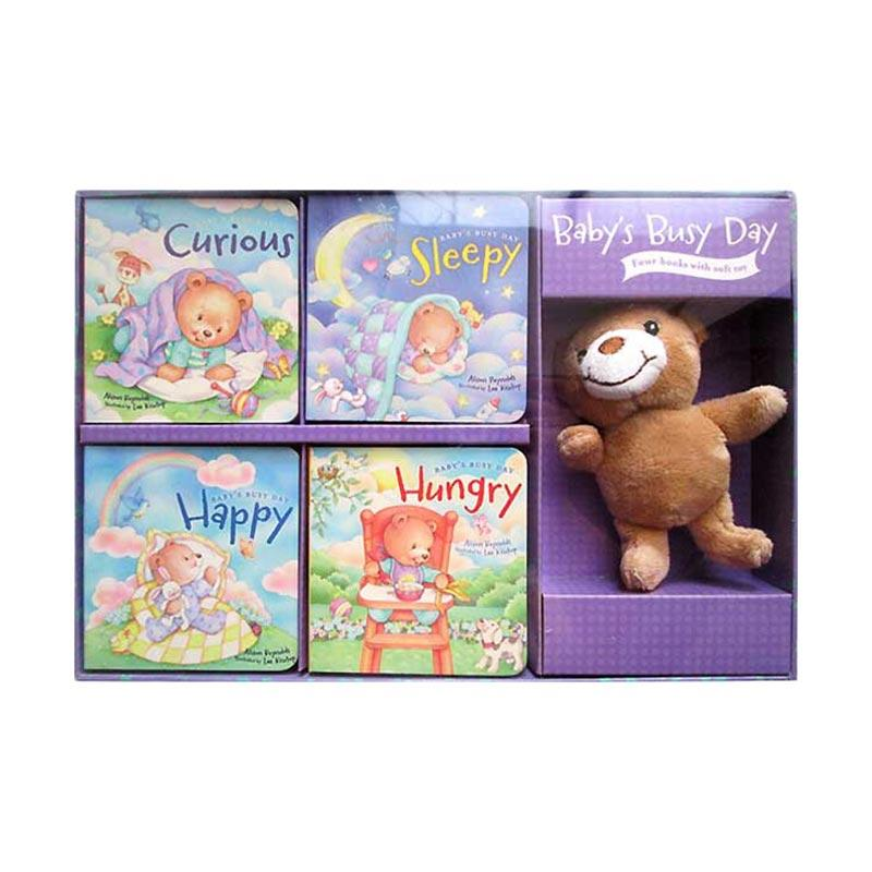 Genius Baby���s Busy Day Box Set 4 Board Books with A Soft Bear Doll