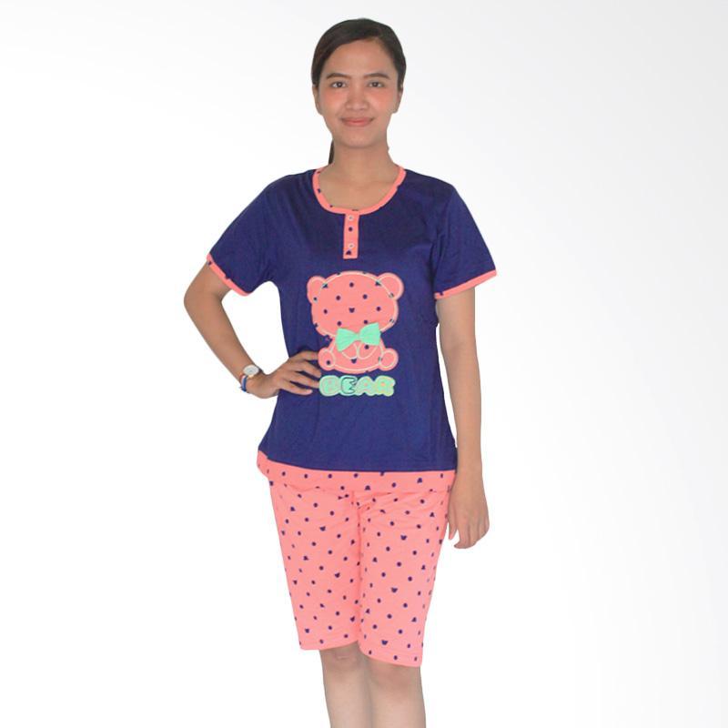 Aily 462 Celana Pendek Setelan Baju Tidur Wanita - Pink Salem