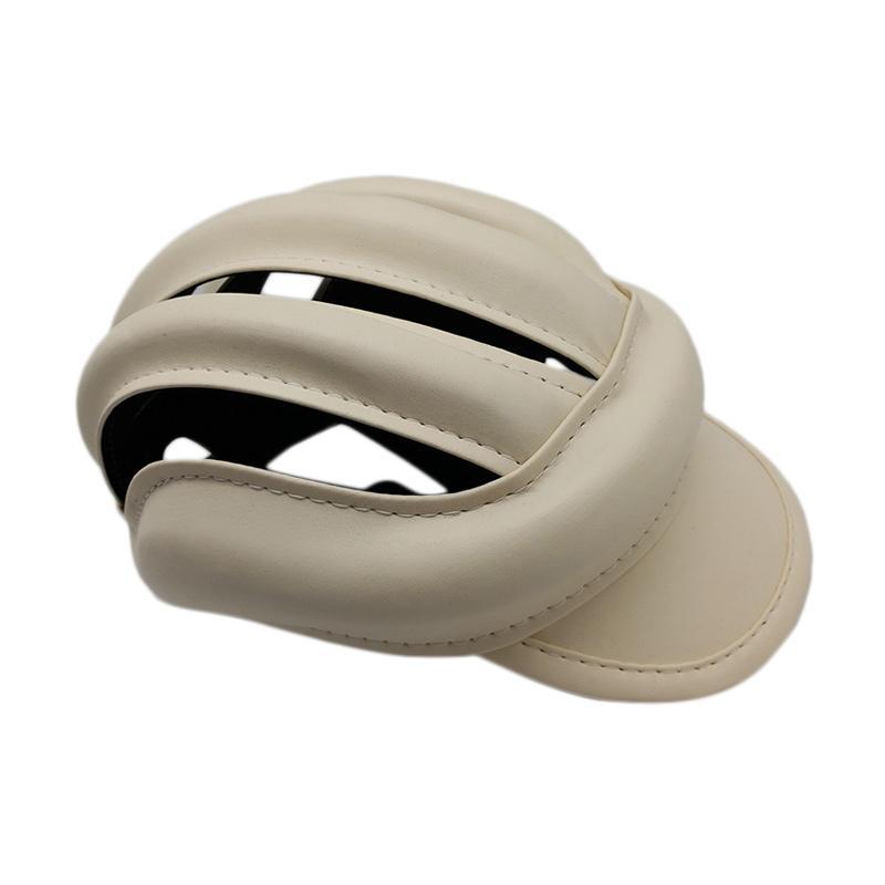 TOPI Helm Colour Bike Caps - Cream