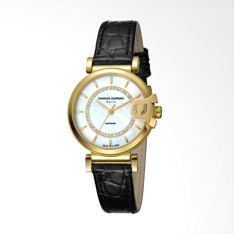 Charles Jourdan CJ1003-2212 Jam Tangan Wanita Black Gold