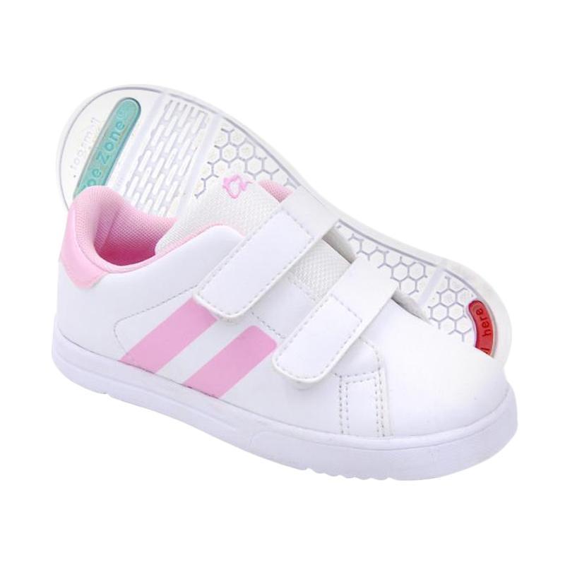 Toezone Kids Flagstaff Ch Sepatu Anak Perempuan - White Pink