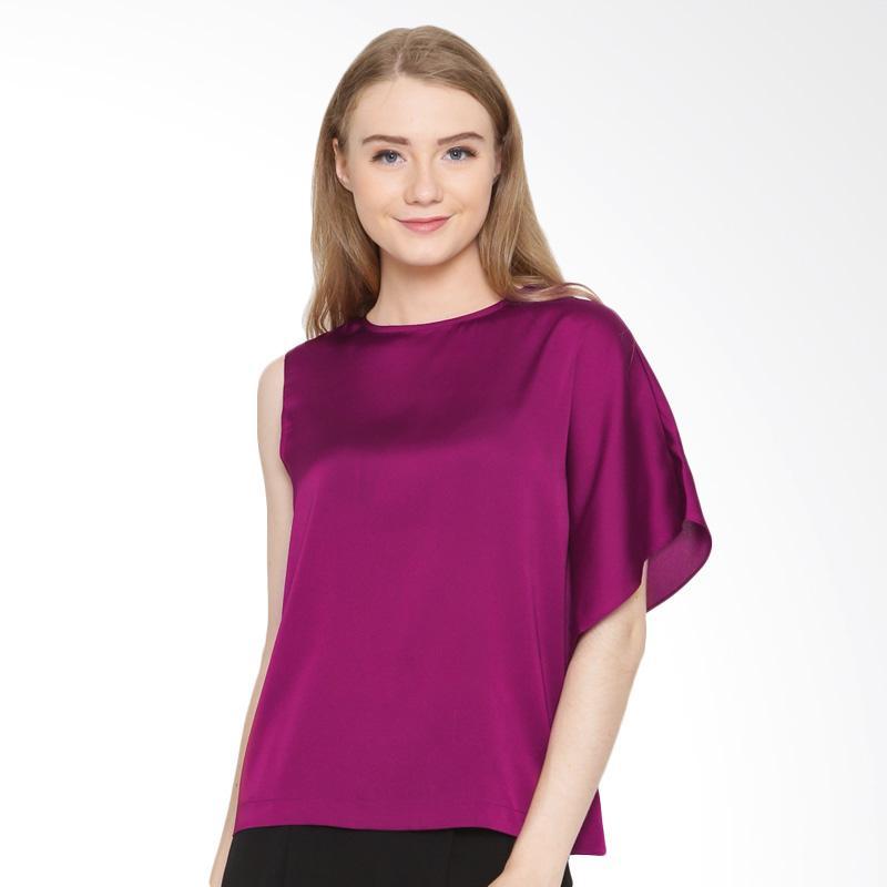 A&D Fashion Ms 966 Casual Ladeis Blouse Atasan Wanita - Purple