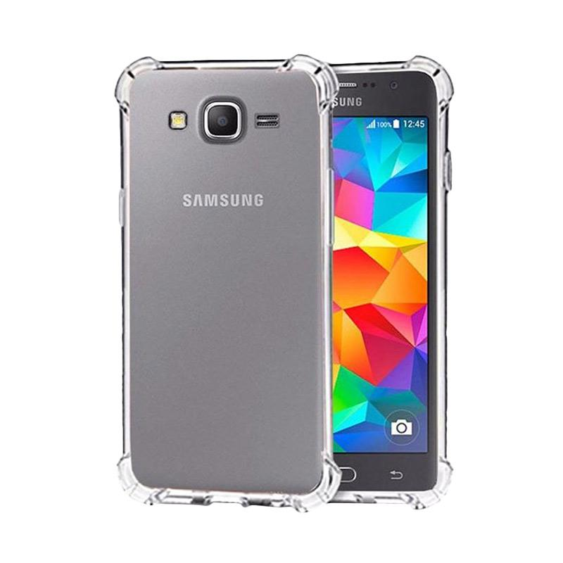 QCF List Anti Shock Anti Crack Silicon Softcase Casing for Samsung Galaxy J7 Core - Transparan