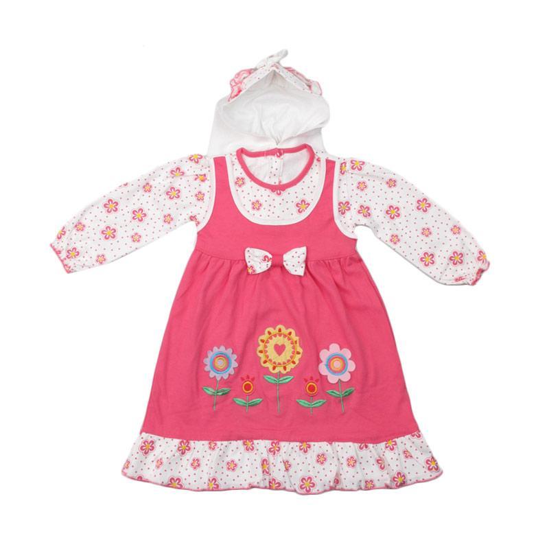 4 You Ribbon Dress Baju Muslim Anak - Pink