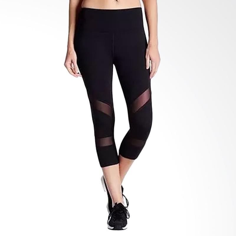 C&C California Mesh X Capri Celana Olahraga Wanita - Black [CCC001]