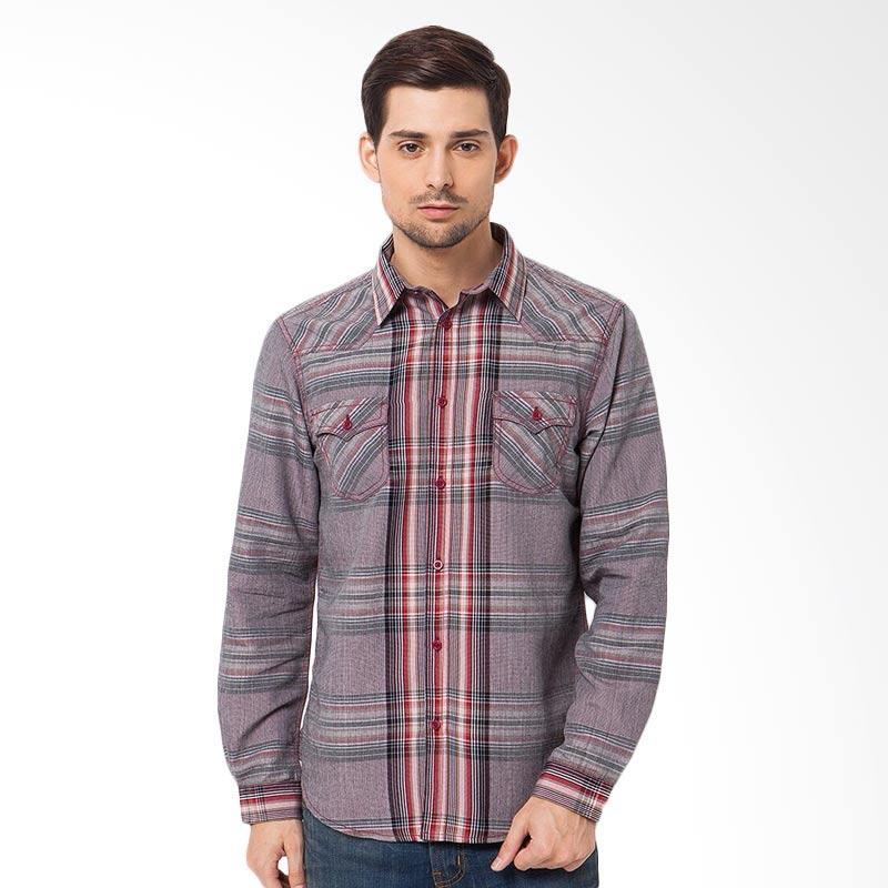 A&D MS 632A Mens Shirt Long Sleeve - Red