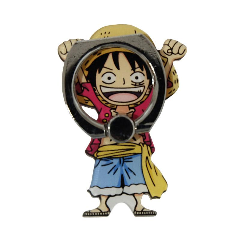 QCF 3D Animasi One Piece Luffi Ring Stand Holder Smartphone