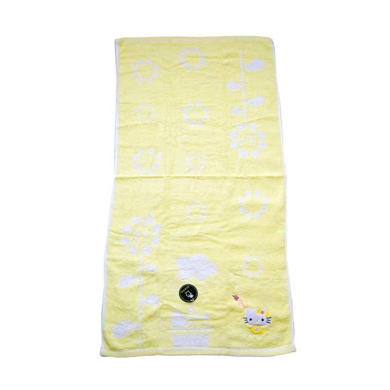 Dixon Kitty Flower 7077 Handuk Mandi - Yellow [60 x 120 cm]